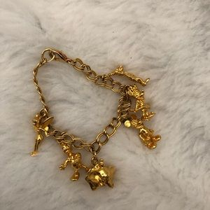 Disney Gold colored vintage charm bracelet